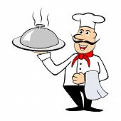 Chef Holding A Dish