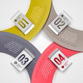 Abstract infographics paper elements with numbered labels - vector illustration
