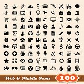Icons for web and mobile elements collection