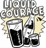 Liquid courage alcohol sketch