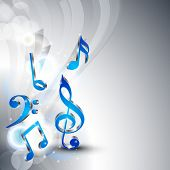 Abstract musical notes background.