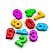 3D Colorful Funny Disorderly Digits Illustration