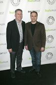 BEVERLY HILLS - MARCH 13: Bill Prady and Steven Molaro arrive at the 2013 Paleyfest
