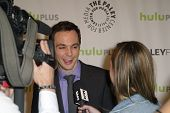 BEVERLY HILLS - MARCH 13: Jim Parsons is interviewed by the media at the 2013 Paleyfest
