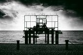 Front View Of West Pier On Brighton Beach