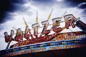 Waltzer Sign On Brighton Pier