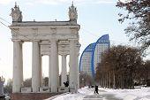 The Central quay of Volgograd in the winter