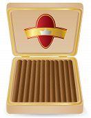 Cigars In A Box Vector Illustration