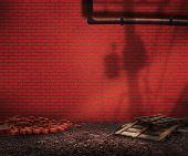 Red Brick Backyard Background