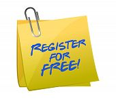 Register For Free Sign Up Concept On A Post-it
