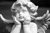 stock photo of cemetery  - lovely angelic figure - JPG