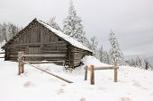 Hut In The Carpathian Mountains