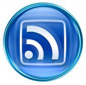Wi-fi Icon Blue, Isolated On White Background