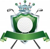 Golf Crown Shield