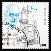 Postage Stamp Germany 1997 Rudolf Diesel And His Engine