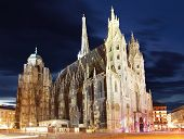 St. Stephan Cathedral In Vienna At Twilight, Austria