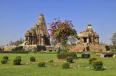 Devi Jagadambi Temple - Left And Chitragupta Temple, Khajuraho, India - UNESCO world heritage site.