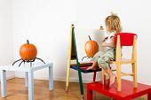 Painting Pumpkin Impressionist