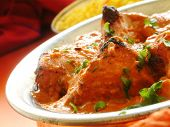 Chicken Tikka Massala In Metal Dish