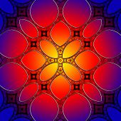 Seamless Stained Glass Pattern Background