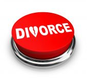 image of broken hearted  - A red button with the word Divorce on it - JPG
