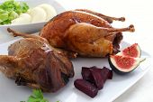 Roast Game Birds Pheasant And Partridge