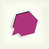 Paper origami speech bubble