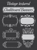 Vintage Textured Chalkboard Banners