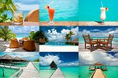 Tropical Holidays Collage