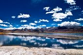 Himalaya mountain landscape with salt lake Tso Kar