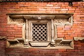 Hindu temple architecture detail. Nepal