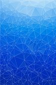 stock photo of prism  - Blue ice abstract background polygon - JPG