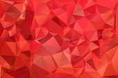 Red abstract background polygon.