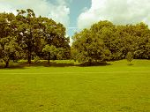 image of kensington  - Vintage look The Kensington Gardens and Hide Park London UK - JPG