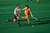 BLOEMFONTEIN, SOUTH AFRICA -  JAN. 16: Action during an international menas field hockey game betwee