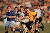 BLOEMFONTEIN, SOUTH AFRICA - AUGUST 7: Unidentified players during a rugby match between the North W