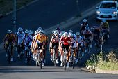 BLOEMFONTEIN, SOUTH AFRICA -NOVEMBER 7: Unidentified cyclists during the annual OFM Classic cycle ra