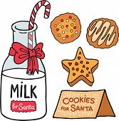 Milk cookies for Santa Claus