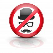 picture of no spamming  - Symbol incognito - JPG