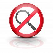 stock photo of no spamming  - Symbol magnifier - JPG