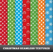 7 Merry christmas vector seamless patterns.