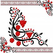 Vector traditional ukrainian pattern with guelder-rose