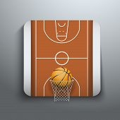 Vector Illustration Basketball icons