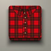 Premium Icon flannelette plaid shirt.