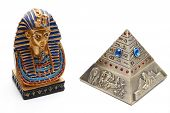 Pyramid ashtray with Pharaoh