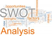 foto of swot analysis  - Word cloud concept illustration of SWOT Analysis - JPG