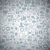 Socia media web icons vector background