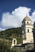 Clocktower in Vernazza ,Cinque Terre, Italy