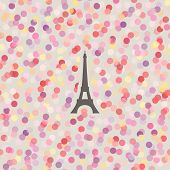 Romantic Seamless Background With Multicolored Light Dots. Vector Illustration.