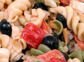 Close-up Of Pepperoni Pasta Salad
